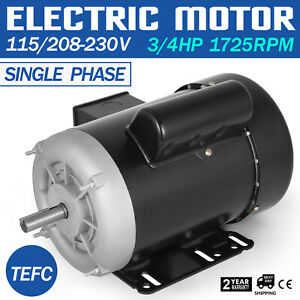 3 4 Hp Electric Motor 1 Ph 1750rpm 5 8 Shaft Tefc Applicable Waterproof Pro