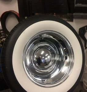 3 Wide White Wall Old Tire Style Hot Rod Rat Street Rod Custom For 15 Tires