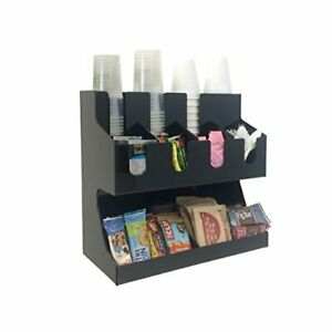 Coffee Condiment Accessories Caddy Organizer For Cups Stirrers Snacks Sugars