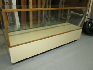 Counter Height Glass Display Case Retail Store Commercial Cabinet Shelves