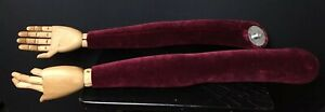 Lot Of 2 Vintage Suede And Wood Mannequin Arms With Hands