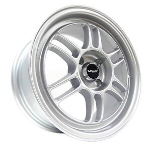 Silver Vms Racing Onyx Rims Wheels 15x7 4x100 Et35 Offset 01 15 Honda Fit