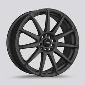 Drag Dr 66 Wheels 15x7 5 4x114 Matte Black Rims For Nissan 200sx Cube Sentra S13
