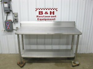60 X 24 Stainless Steel Heavy Duty Kitchen Work Prep Table 5 X 2