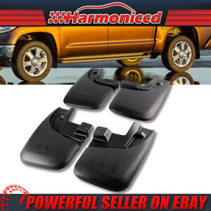 Fits 05 15 Toyota Tacoma Mud Flaps Splash Guards With Fender Flares Front Rear