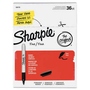 Sharpie Permanent Marker Fine Point 36 count Choose Black Blue Or Red