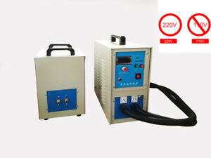 220v High Frequency Induction Heater Furnace Melting Heating Dual Station 15kw