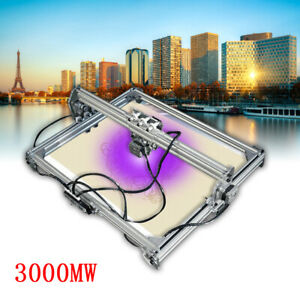 65x50cm 3000mw Cnc Laser Engraving Machine 2 Axis Dc 12v Diy Engraver Desktop Us