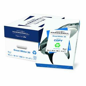 Hammermill Paper Great White 30 Recycled Printer Paper 11 X 17 Paper Ledger