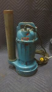 Used Submersible Trash Water Pump Similar Tsurumi 2 1 2hp 3440rpm
