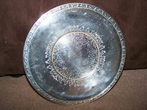 Silverplated 10 Serving Tray Meadowbrook By Wm A Rogers