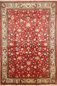 Outstanding All Over Floral 5x7 Wool Persian Sarouk Oriental Area Rug 7 X 4 7