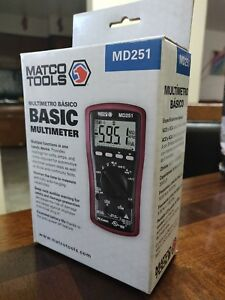 Matco Tools Basic Multimeter Md251 Used Good Condition