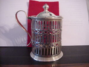 Mauser Manufacturing Co Sterling Silver Lidded Condiment Jar W Monogram