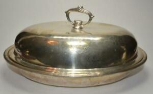Antique S Kirk Son Victorian Sterling 925 1000 Covered Oval Dish 36 Troy Oz