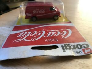 VINTAGE 1978 METTOY CORGI JUNIOR JR COCA COLA #36 CHEVROLET VAN MIP #55078 uk