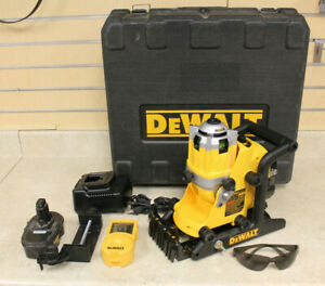 Dewalt Dw073 18v Rotary Laser Level Kit With Batteries charger case look
