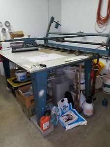 Manual Press Table With Vac Drying Rack Roller Frames
