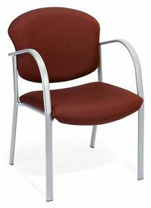 Burgundy Fabric Reception Office Guest Side Chair Waiting Room Office Chair