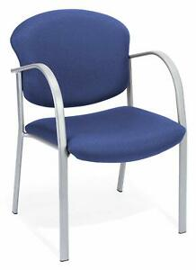 Ocean Blue Fabric Reception Office Guest Side Chair Waiting Room Office Chair