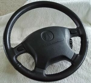 1994 2001 Acura Integra Leather wrapped Steering Wheel W Cruise Control Oem