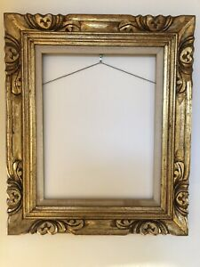 Vintage Hand Carved Wood Gold Picture Frame 26 X 22 Mexico Fits 14 X 18 Canvas