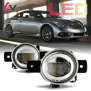 For Infiniti G37 2011 Clear Lens Pair Led Fog Light Lamp Oe Replacement Dot Sae
