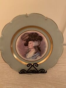 Peters Lady Gainsboro Portrait Plate Gold Filigreed