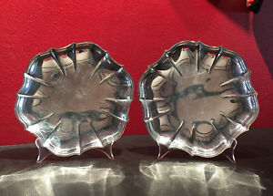 2 Vtg Chippendale International Silver Co Silverplate 11 Platters Trays 6321