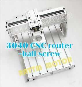 3040 Diy Desktop Ball Screw Cnc Router Engraver Milling Machine Frame 43mm Clamp