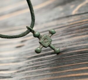 Ancient Viking Cross Pendant 9 11th Century Ad Medieval Artifact Authentic Nord