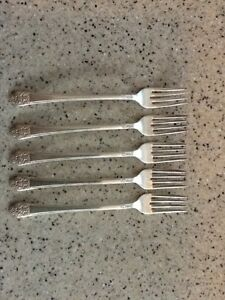 Wm Rogers Silver Plated Grill Forks Precious 1941