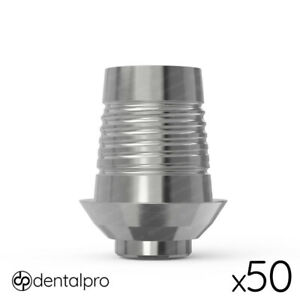 50 X Rotational Cad cam Ti base Abutment Zirkonzahn Compatible Internal Hex Sp