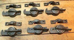 Antique Victorian Window Latches Locks Set Of Six