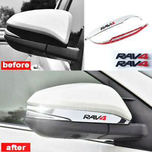 2pcs Abs Chrome Rearview Side Mirror Decorate Cover Trim For Toyota Rav4 2014 18