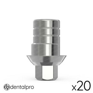 20x Anti rotational Cad cam Ti base Abutment Zirkonzahn Compatible Internal Hex