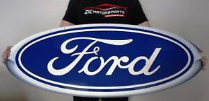 Ford Blue Oval Heavy Duty Steel Metal Sign Ford Licensed super Size