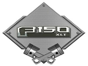 Ford F150 F 150 13thgen Silver Carbon Diamond Metal Wall Sign Ford Licensed