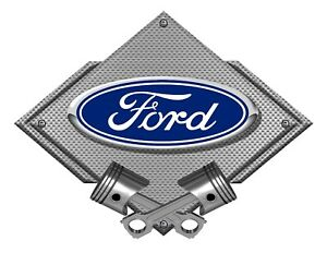 Ford Blue Oval Silver Carbon Diamond Metal Art Wall Sign Ford Licensed