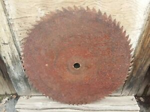 23 Antique Circular Sawmill Blade Primitive Woodworking Logging Milling Tool