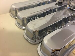 4 Stainless Steel Valve Covers For Chrysler Engines