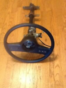 1985 86 Mustang Gt Lx Ssp Tilt Steering Column With Wheel Key Cruise Buttons