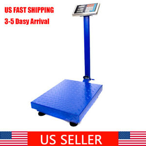 Digital Scale Platform Lcd Accurate Weight Floor Scale Postal 300kg 661lb Us