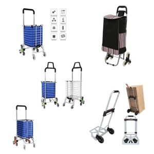 Upgraded Folding Shopping Cart Stair Climbing Grocery Laundry Hand Truck Bag