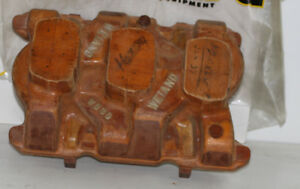 Original 1960s Wooden Pattern For Weiand Wb 3d Tri Power Buick Nailhead V8