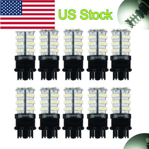 10 Pcs White 3157 54 Smd Led Bulbs For Backup Reverse Tail Brake Parking Light