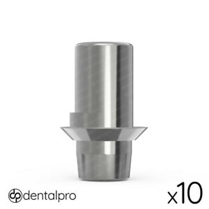 10 X Rotational Cad cam Ti base Abutment Amann Girrbach Compatible Internal Hex