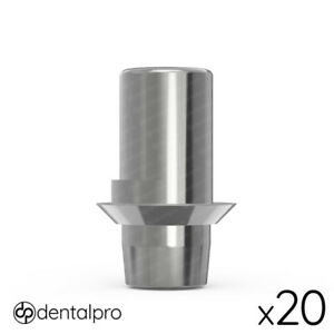 20 X Rotational Cad cam Ti base Abutment Amann Girrbach Compatible Internal Hex