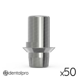 50 X Rotational Cad cam Ti base Abutment Amann Girrbach Compatible Internal Hex