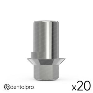 20x Anti rotational Cad cam Ti base Abutment For Amann Girrbach Internal Hex Sp